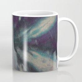 Tie Dye Black Turquoise Purple Coffee Mug