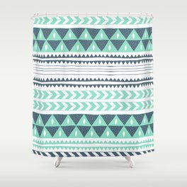Winter Stripe Shower Curtain