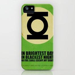 Green Lantern (Super Minimalist series) iPhone Case
