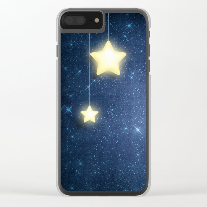 Moon & Stars 04 Clear iPhone Case