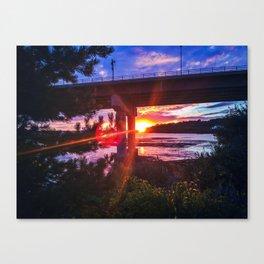 Casco Bay Bridge Sunburst Canvas Print