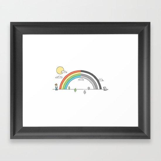 Colorblind Framed Art Print