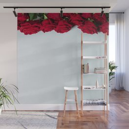 Red roses background Wall Mural