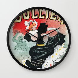 Bullier French dance hall days Wall Clock
