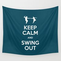 keep calm Wall Tapestries featuring Keep Calm by Chickadee Designs