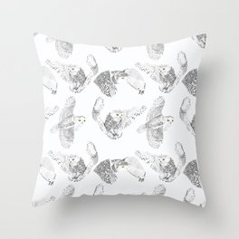 Snowol Throw Pillow