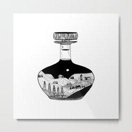 Inktober Bottle Metal Print