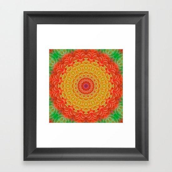 Orange/Yellow/Green K-scope Framed Art Print