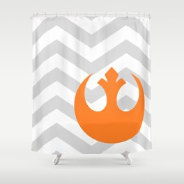 Star Wars Rebel Alliance Chevrons Shower Curtain