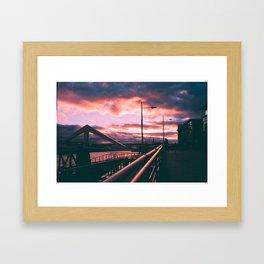 Clyde Side Nights. Framed Art Print