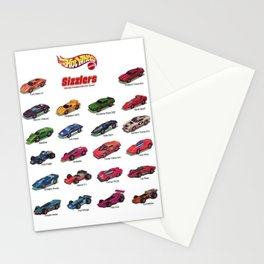 Redline Era 1960's Hot Wheels Sizzlers Advertising Vintage Toy Car Poster Stationery Cards