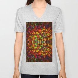 Rainbow  Iridescent Shimmer Unisex V-Neck