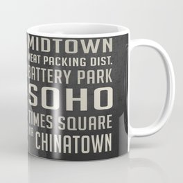 New York City Subway Stops Vintage Coffee Mug