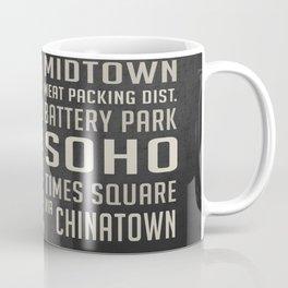New York City Subway Stops Vintage Coffee Mug