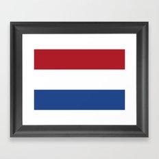 Flag of the Netherlands Framed Art Print