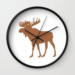 Moose: Brown Wall Clock