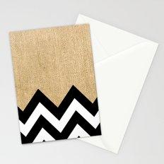 BURLAP BLOCK CHEVRON Stationery Cards