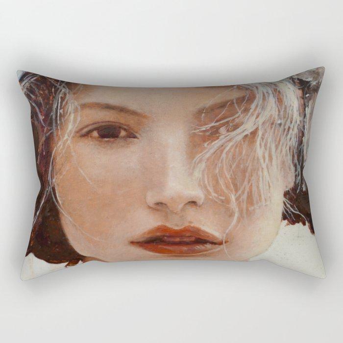 Face10 Rectangular Pillow
