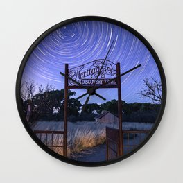 Startrails on Dicovery Trail Wall Clock