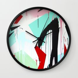 Red Rive Wall Clock