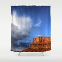 utah Shower Curtains featuring Utah Sky by Tracy Lynn Hart Photography