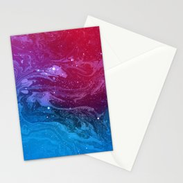 Pink & Blue Nebula Marble Stationery Cards