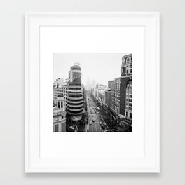 Gran Via in Madrid Framed Art Print
