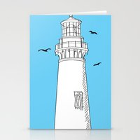 lighthouse Stationery Cards featuring Lighthouse by Janko Illustration