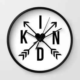 Kind with Arrows Wall Clock