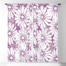 Summer Flowers Purple Blackout Curtain