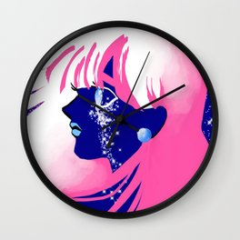 Jet Girl Dark Wall Clock