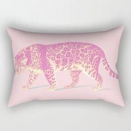 Pink Jaguar Painting Rectangular Pillow