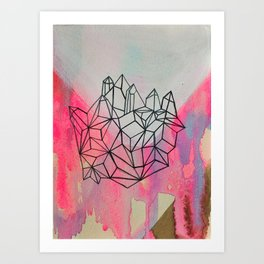 crystal/valley Art Print