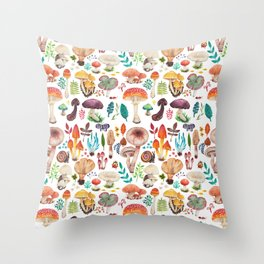 Mushroom heart Throw Pillow