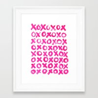 xoxo Framed Art Prints featuring XOXO by MADE BY GIRL