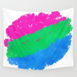 Splatter YOUR Colors - Polysexual Pride Wall Tapestry