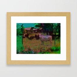 cow trip Framed Art Print