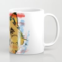 howl Mugs featuring HOWL by Galvanise The Dog