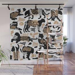 Boho Wild Cats I. Wall Mural