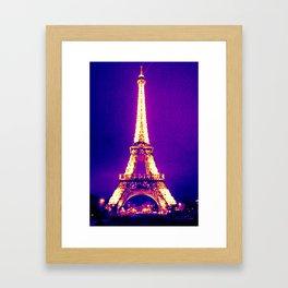Parisian Purple Framed Art Print