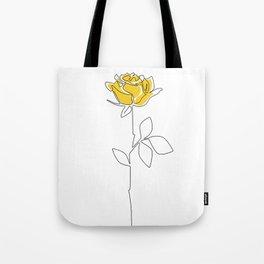 Lemon Rose Tote Bag