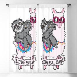 Sloth and Llama Blackout Curtain