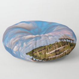 Eastern Sky at Sunset on the Gulf Coast Floor Pillow