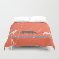 evolution Duvet Covers featuring Evolution by Tony Vazquez