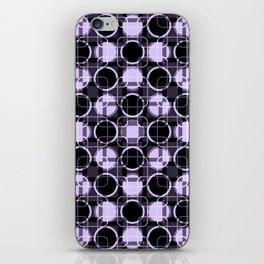 Dark and light Geometric Lavender Cirles iPhone Skin