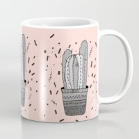 cactus Mugs featuring CACTUS  by Vasare Nar