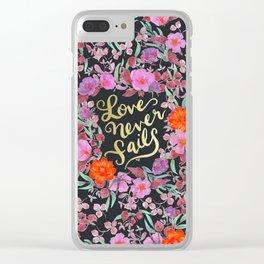 Love Never Fails -  1 Corinthians 13:8 Clear iPhone Case