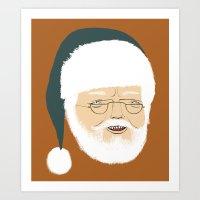 santa Art Prints featuring santa by Rich Orr