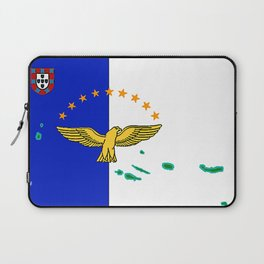 Azores Flag with Map of the Azores Islands Laptop Sleeve