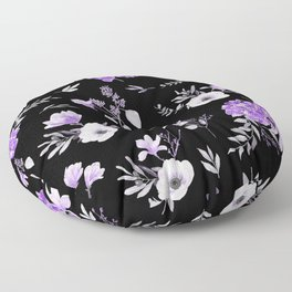 Lavender & Black Pattern Floor Pillow